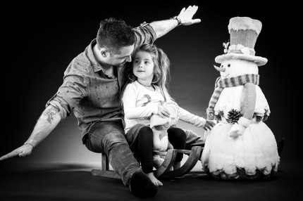 Shooting photo en famille papa et sa fille